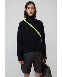 Acne Studios - Boxy Ribbed Sweater black - Lyst