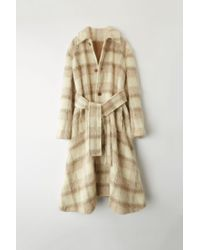 Acne Studios - Fn-wn-outw000046 White/grey Checked Coat - Lyst