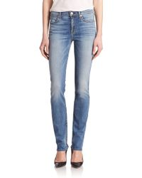 7 For All Mankind Modern Straight-Leg Jeans blue - Lyst
