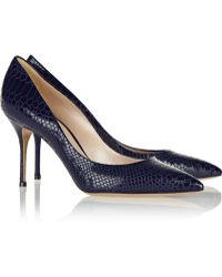 Casadei Selene Snake-effect Leather Pumps - Lyst