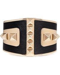 Valentino 'Rockstud' Leather Cuff - Lyst