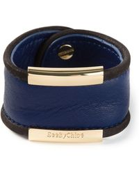 See By Chloé Gold Detail Cuff - Lyst