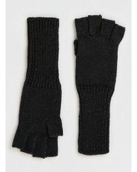 TOPMAN - Black Long Fingerless Gloves - Lyst
