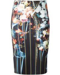 Clover Canyon Floral All Over Print Stretch Skirt - Lyst