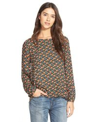 Ace Delivery - Print Gathered Back Top - Lyst