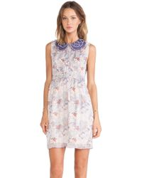 Anna Sui Floral Melody Mixed Prints Tank Dress - Lyst