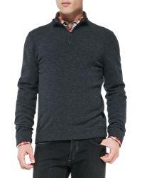 Rag & Bone Zeeland Suedepatch Pullover Sweater - Lyst