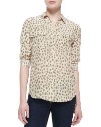 Equipment Logan Cheetah-Print Silk Blouse - Lyst