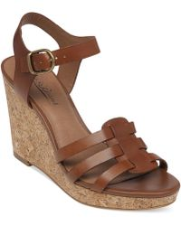 Lucky Brand Women'S Willows Platform Wedge Sandals - Lyst