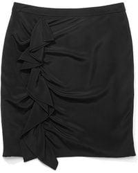 Rebecca Minkoff Black Jenson Skirt - Lyst