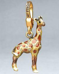 Jay Strongwater Tyler Giraffe Charm - Lyst