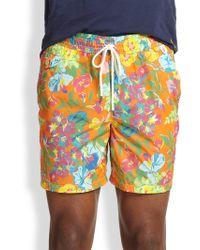 Polo Ralph Lauren Island Floralprint Swim Trunks - Lyst