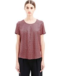 Sonia Rykiel Womens Jacquard Silk T-Shirt - Lyst