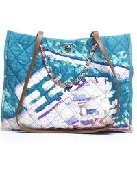 Chanel Pre-owned Surf Line Tote Bag - Lyst