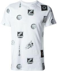 Soulland Cosmos Print Tshirt - Lyst