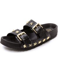 Ash United Two Band Sandals - Black black - Lyst