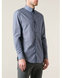 Giorgio Armani Blue Classic Shirt - Lyst