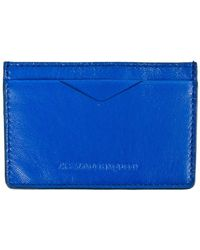 Alexander McQueen Blue Card Holder - Lyst