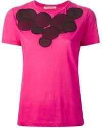 Christopher Kane Pink Molecules Tshirt - Lyst