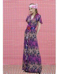 Matthew Williamson Wing Lace Silk Ruffle Sleeve Gown - Lyst
