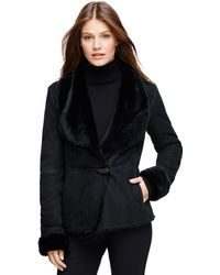 Brooks Brothers Shearling Coat - Lyst