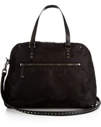 Valentino - Camo-print Nylon Weekend Bag - Lyst