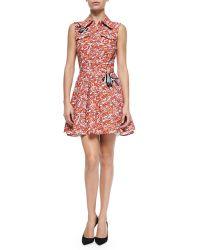 Elle Sasson Guppy-print Dress W Open Back - Lyst