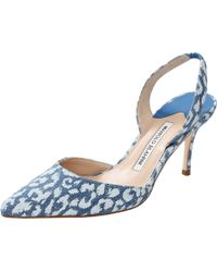 Manolo Blahnik Carolyne Slingback blue - Lyst