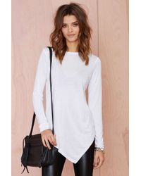 Nasty Gal Playing Games Modal Tee - Lyst
