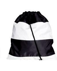 Asos Drawstring Backpack in Stripe - Lyst