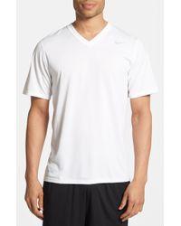 Nike 'Legend' Dri-Fit V-Neck T-Shirt - Lyst