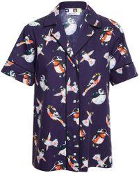 MSGM Pyjama Top With Bird Print - Lyst