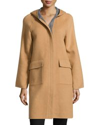 Halston Heritage Double-face Wool-blend Coat - Lyst