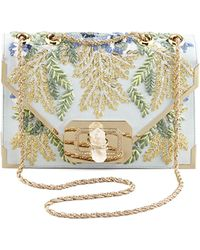Marchesa Valentina Floral Embroidered Envelope Clutch Bag - Lyst
