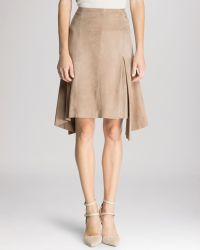 Halston Heritage Skirt - Suede Flare Inset - Lyst