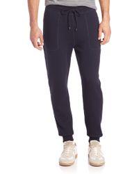 Michael Kors | Plaited Waffle-knit Wool & Cotton Pants | Lyst