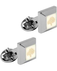 Mulberry Enamel Tapered Square Cufflinks - Lyst