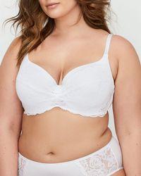Addition Elle - Contour Flirt Bra With Lace Sizes G & H - Déesse Collection - Lyst