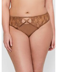a5eb12b50 Addition Elle - Ashley Graham Thong Panty With Side Lace Inserts - Lyst
