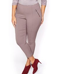 Addition Elle - Michel Studio Solid Alexa Ankle Pant - Lyst