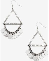 Addition Elle - Triangle Dangle Disc Earrings - Lyst