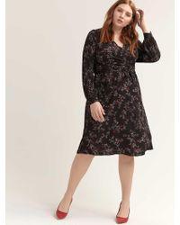 91c4313c79 Addition Elle - Crisscross Faux Wrap Printed Dress - Michel Studio - Lyst