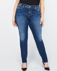 Addition Elle - Silver Avery Super Skinny Jean - Lyst