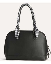 Addition Elle - Dome Satchel With Scarf - Lyst