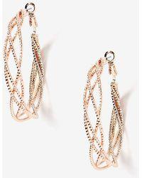 Addition Elle - Twisted Hoop Earrings - Lyst