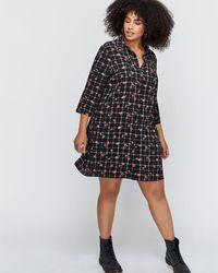 Addition Elle - Printed Shirt Dress - Michel Studio - Lyst