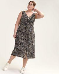 2936ede34423 Addition Elle - Floral Mesh Dress With Front Ruffle Trim - Michel Studio -  Lyst