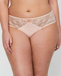 882606f960985 Addition Elle - Ashley Graham High Cut Panty With Lace   Mesh - Lyst