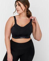 462a5a72e39 Lyst - Addition Elle Nola Underwire Sports Bra - Medium Impact in Black