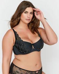 f67d08a80c1e94 Lyst - Addition Elle Ashley Graham Convertible Straps Lace Bralette ...